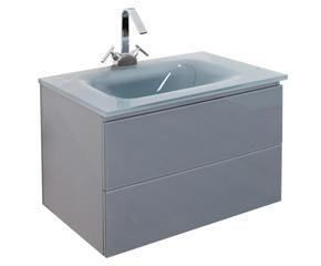 ... Waschtisch CESARE Mit Waschbecken Und Wasserhahn, Grau, B 72 Cm