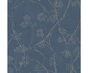papel pintado branchly u azul gris y beige