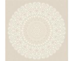 papel pintado grand medaillon u blanco y beige