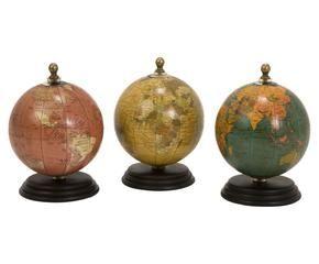 globo terrqueo roma lmina mapamundi acuarelas color set de globos santorini