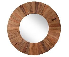 espejo de madera dimetro