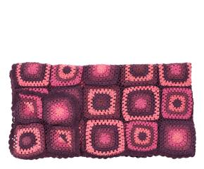 manta estilo patchwork u rosa y morado