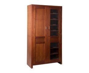 Armario de madera maciza refinada fortaleza westwing - Armarios de madera maciza ...