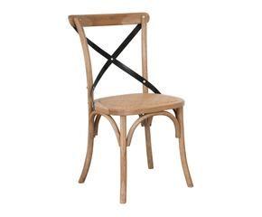 silla de madera y hierro