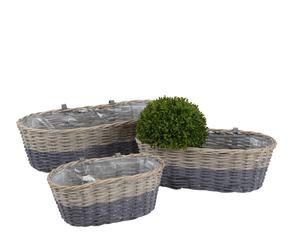 set de jardineras de pared