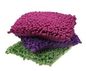 set de cojines bobbel pop lila verde y lila oscuro
