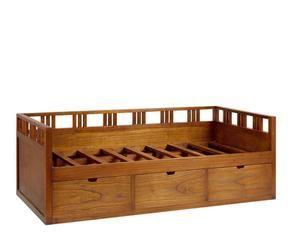 Cama con cajones funcionalidad y estilo westwing - Estructura cama individual ...