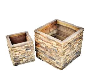 Macetero de madera encanto natural con westwing - Maceteros de madera ...