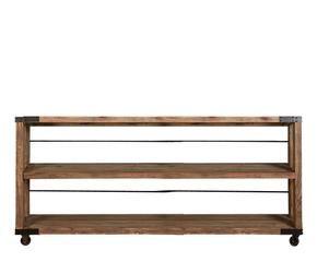 estantera baja desmontable de madera marrn y negro - Estanterias Bajas