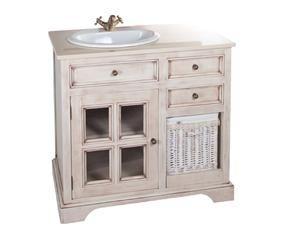 Lavabos r sticos el encanto de lo rural en casa westwing for Mueble bano rustico blanco