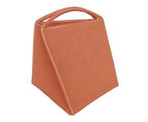 cesto para la ropa en fibra de u naranja