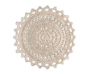 alfombra de algodn blanco