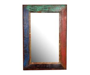 espejo de madera de teca u multicolor