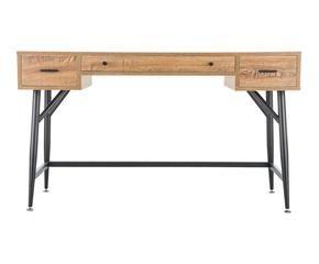 escritorio de madera y acero natural