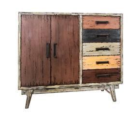 aparador en madera de abeto y metal steve u multicolor