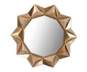 espejo de metal y cristal estrella dorado cm