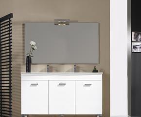 espejo de bao con luz y lupa set de bao blanco grande