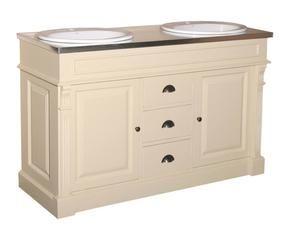 mueble de bao de madera crema y natural