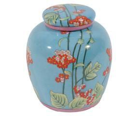 jarrn ovalado jarrn de cermica flores azul