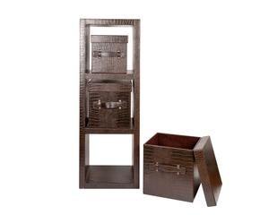 mdulo de estanteras y cajas croco