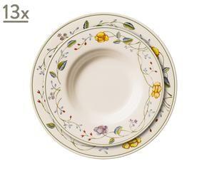 set de platos marrn u vajilla plato hondo y plato llano victoria decorados