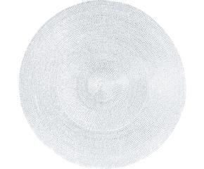 mantel individual redondo classic blanco