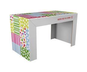 escritorio de cartn reciclado u patchwork