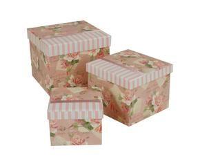 set de cajas de cartn rosa
