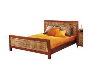 cama de matrimonio de madera de caoba y pltano