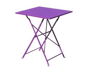 mesa plegable de metal vieste u lila