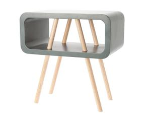 mesa auxiliar de madera graphite u gris oscuro
