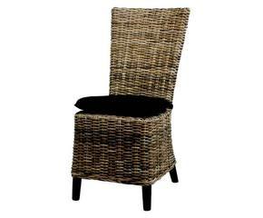 Chaise en rotin authentique et confortable westwing - Chaise en osier blanc ...
