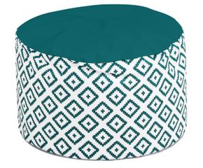pouf turquoise le si ge passe partout westwing. Black Bedroom Furniture Sets. Home Design Ideas