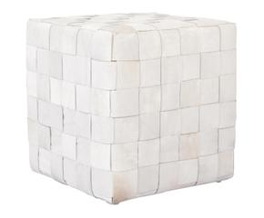 pouf cuir blanc tendance et contemporain westwing. Black Bedroom Furniture Sets. Home Design Ideas