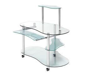 Bureau informatique votre espace de travail westwing - Table ordinateur verre ...