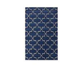 tapis bleu marine westwing d coration. Black Bedroom Furniture Sets. Home Design Ideas