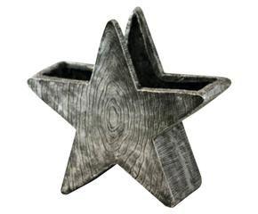 Vaso in magnesia argentata star xx cm with vasi decorativi for Vasi decorativi da interno