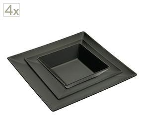 Piatti quadrati neri per una casa moderna e minimal for 3000 piani di casa quadrati