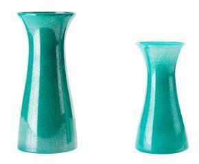 Top set di vasi decorativi in vetro verde max x cm with for Vasi decorativi da interno