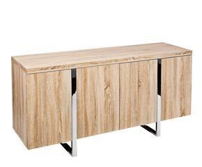 Credenza Dalani : Credenza moderna colorata in legno bianco a due