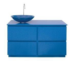 mobile bagno in mdf e vetro blu margherita 120x90x47 cm