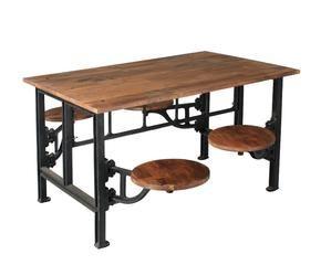 Tavolo industriale stile metropolitano dalani e ora for Tavolo stile industriale