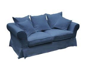 dalani | divano blu: il colore del mare nel soggiorno - 2 Posti Divano Letto Blu