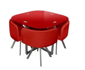 Tavolo rosso originalit in cucina dalani e ora westwing - Tavolo pieghevole con sedie a scomparsa ...