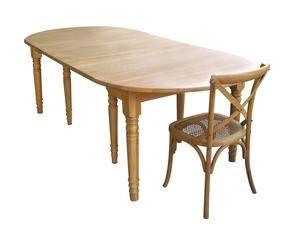 Westwing tavolo allungabile in legno grezzo essenza di for Tavolo ovale legno grezzo