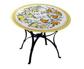 Tavoli in pietra lavica stile mediterraneo dalani e ora westwing - Decoupage su mobili in formica ...