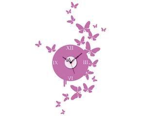 Orologi da parete con farfalle aria di primavera dalani for Orologio da muro farfalle