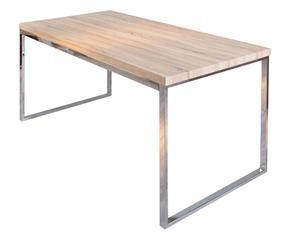 Tavoli in legno massello artigianali e di design dalani for Tavolo acciaio design