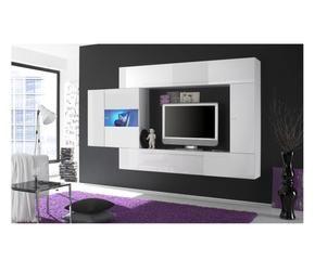 Parete attrezzata per soggiorno comoda e di stile for Parete attrezzata bianca e nera