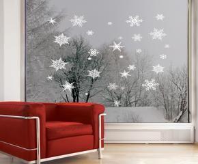 Stickers natalizi mood natalizio su mobili e porte for Dalani adesivi parete